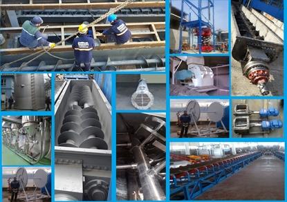 Helezon, bant konveyör, tank silo, bariyer, borulama, eşanjör, mikser imalatı resmi